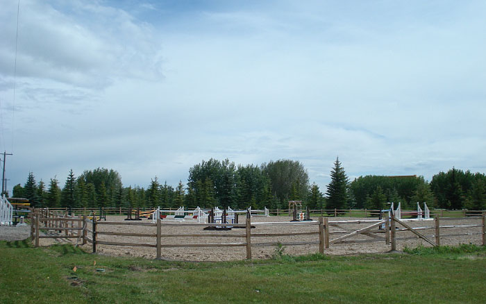 Riding Arena from 3-rail fencing